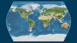 Brazil. Times Atlas. Satellite Animation