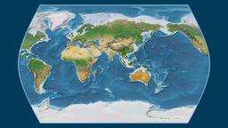 Cameroon. Times Atlas. Satellite Animation