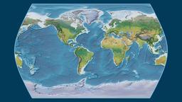 Ecuador. Times Atlas. Topographic Animation