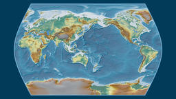 India. Times Atlas. Relief Animation