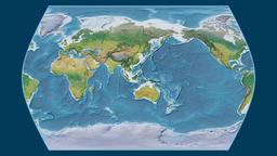India. Times Atlas. Topographic Animation