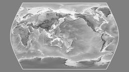 Iran. Times Atlas. Grayscale Animation