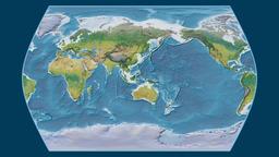 Iran. Times Atlas. Topographic Animation