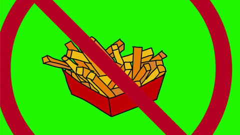 Prohibited Junk Foods Color Drawing 2D Animation Animación