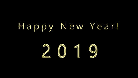 Happy New Year Gold Text Animation