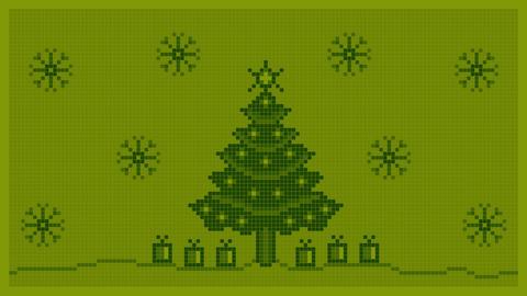 Christmas Background 8 Bit Animation
