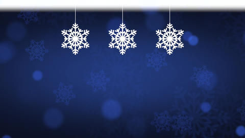 Christmas Background Blue Animation