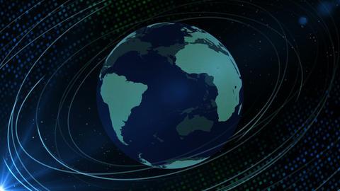 Earth CG 18 G3D 4k 動画素材, ムービー映像素材
