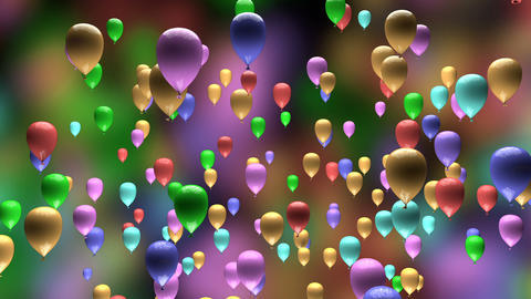 Colorful Pastel Balloons Ascending 3D Animation Animation