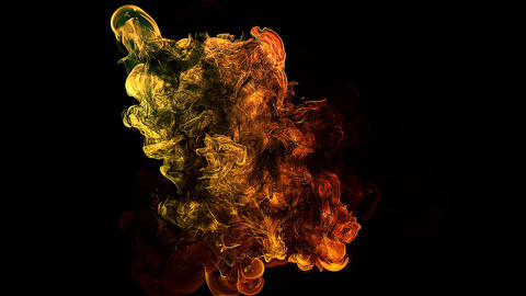 High Detailed Color Changing Raging Fireball 1000 fps Super Slow 3D Animation Animation