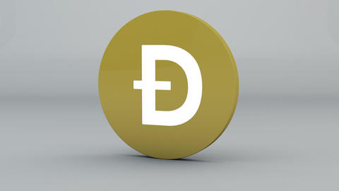 Dogecoin Crypto Currency Logo 3D Animation Animation