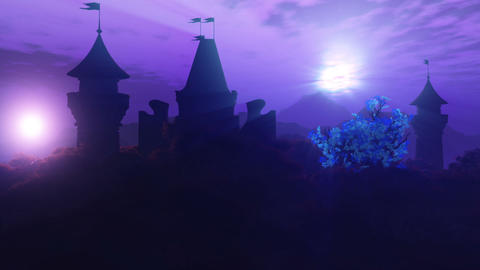 Fantasy Land with 2 Suns Magic Scene 3D Animation 2 Animation