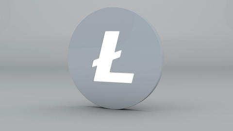 Litecoin Crypto Currency Logo 3D Animation Animation