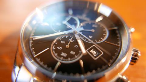 4K Elegant Analog Wrist Watch Macro Shot Footage