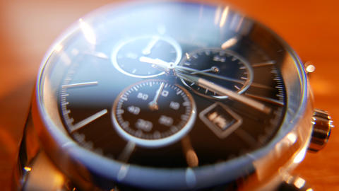 4K Elegant Analog Wrist Watch Macro Shot Footage