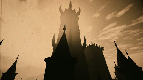 Scary Fantasy Castle 3D Animation Vintage Animation