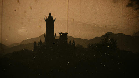 Fantasy Castle Sunset with Fire Flies in a Mysterious Land 3D Animation Vinta Animation
