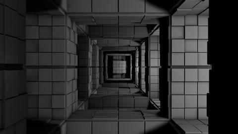 4K Sci-Fi Minimalist Cube Maze Modern Fantasy Utopia 3D Animation Animation
