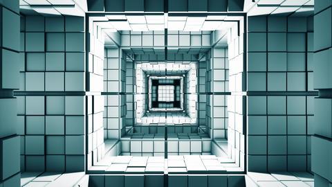 4K Science Fiction Minimalist Cube Labyrinth Fantasy 3D Animation Animation