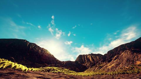 4K Semidesert Arid Landscape Daytime Hyperlapse Wide Angle 3D Animation Animation