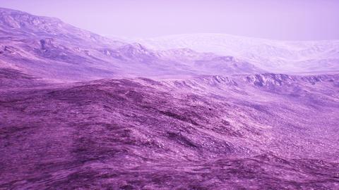 4K Surrealistic Rocky Arid Landscape 3D Animation Animation