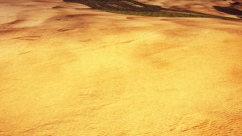 Aerial View of a Semidesert and Arid Mountains Area 3D Animation Animation