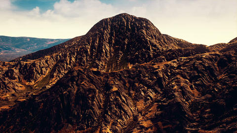 Eroded Rocky Mountains Aerial 3D Animation Animation