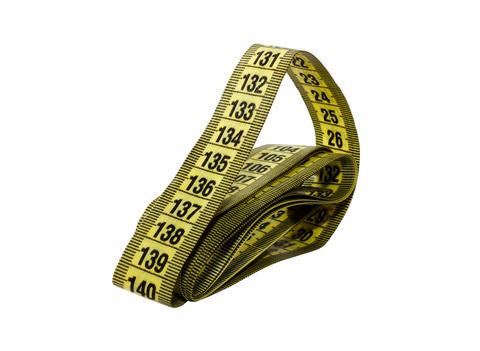 Folded flexible measuring tape 1 Photo
