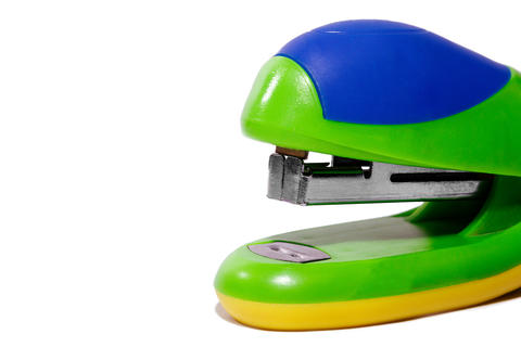 Colorful office stapler Photo