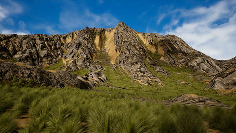 Shrublands and Rocky Mountain Peak 3D Animation Animation