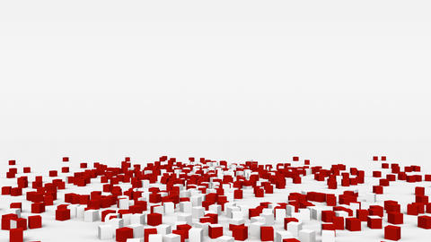 Flag of Switzerland created from 3d cubes in slow motion Animation