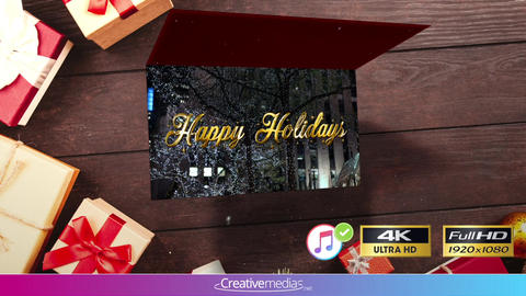 New Year Card Animation - Apple Motion and Final Cut Pro X Template Apple Motion Template