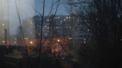 An evening life in Moscow residential district Live Action