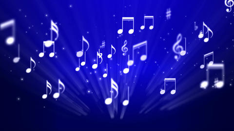 Music Notes Background 02 Stock Video Footage