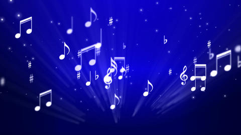 Music Notes Background 02, Stock Animation