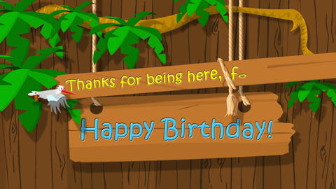Happy birthday country music cartoon greeting CG動画素材