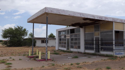 1 Abandoned Gas Station On Route 66 Tucumcari New Mexico Live Action