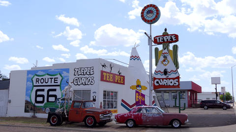 8 Souvenir Shop On Route 66 In New Mexico USA Live Action