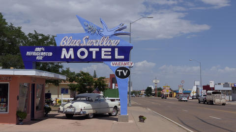 9 Iconic Motel In Tucumcari New Mexico United States America Footage