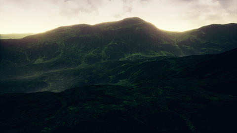 4K Beautfiul Highlands Cinematic Aerial 3D Animation Animation