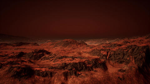 4K Alien Red Rock Planet Cinematic 3D Animation Animation