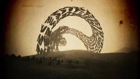 4K Enigmatic Shape in a Desert Fantasy Vintage 3D Animation Animation