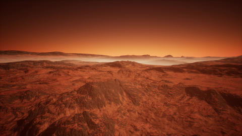 4K Extraterrestrial Red Planet Cinematic 3D Animation Animation