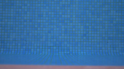 Blue mosaic pool bottom Live Action