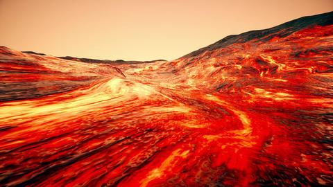 4K Massive Lava Flow Cinematic 3D Animation Animation