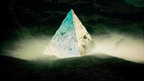 4K Mysterious Alien Pyramid Cinematic Fantasy 3D Animation Animation