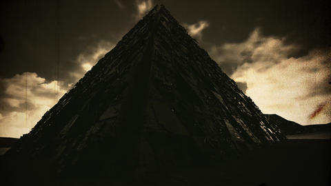 4K Mysterious Enigmatic Pyramid Fantasy Vintage 3D Animation Animation