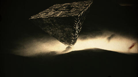 4K Mysterious Upside Down Pyramid Cinematic Vintage 3D Animation Animation