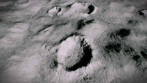 4K Aerial View of the Moon Surface Cinematic 3D Animation Animation