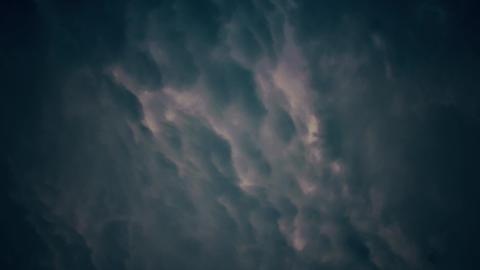 4K Dense Thunder Clouds Timelpase Animation Animation